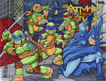 Batman Teenage Mutant Ninja Turtles Sketch cover