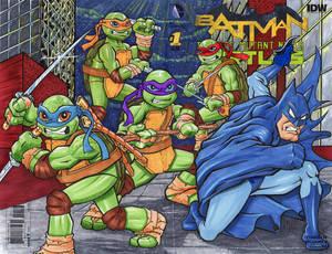 Batman Teenage Mutant Ninja Turtles Sketch cover
