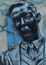 Ben Statue Umbrella Academy original Sketch card