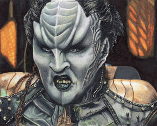 L' Rell sketch card  Star Trek Discovery
