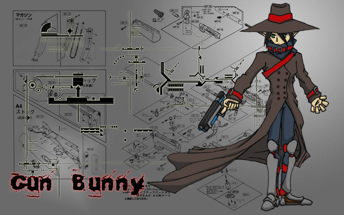 Anime D20 Gun Bunny Wallpaper By Noodle Ninja On Deviantart
