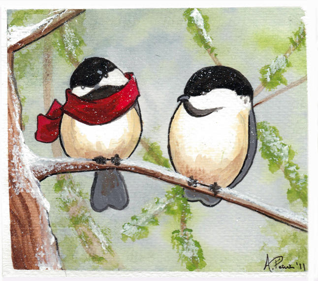 Chickadees - 2011 Greeting Card