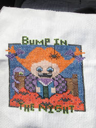 Bump In the Night Cross Stitch