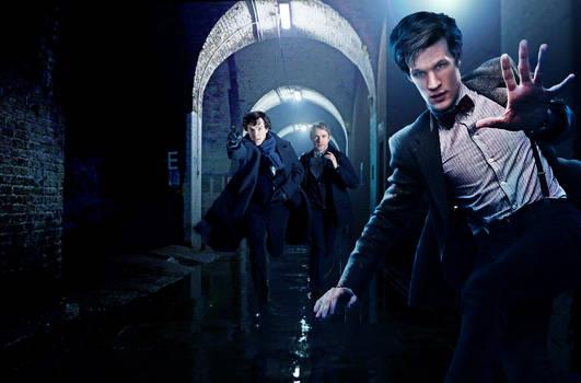Doctor,sherlock And John WP