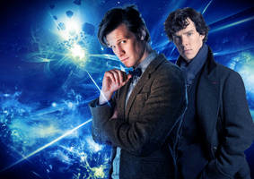 Doctor and Sherlock WP by drawingdream