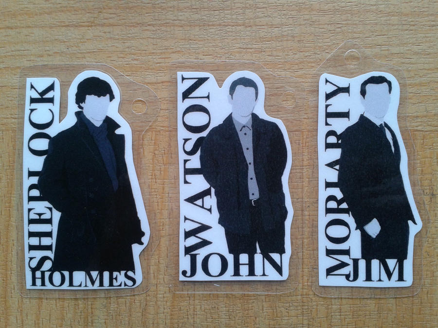 Sherlock Keyring Set by drawingdream