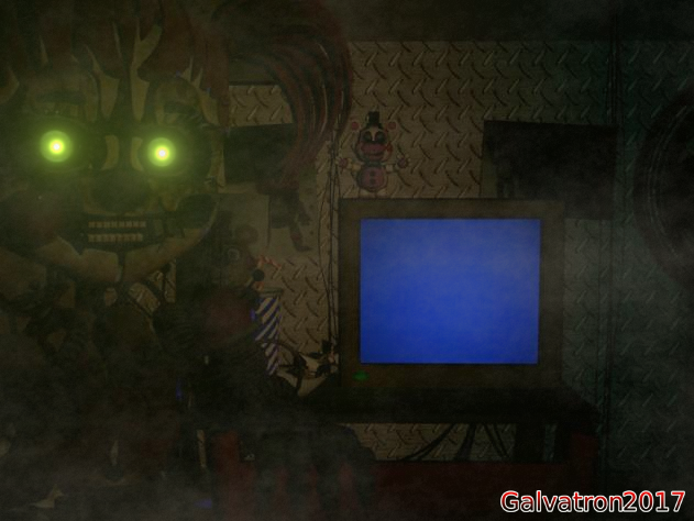 (C4D\Fnaf 6) Scarp baby in office by Galvatron2017