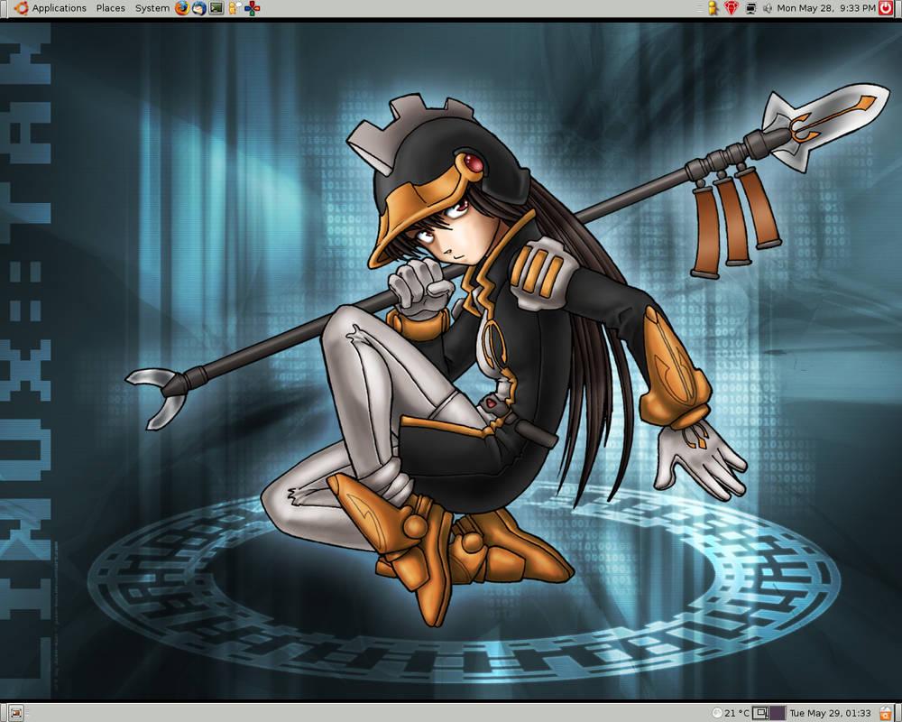 Linux-tan Desktop Screenshot