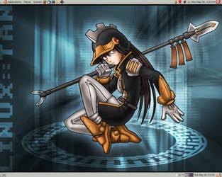 Linux-tan Desktop Screenshot by Dr-Morph