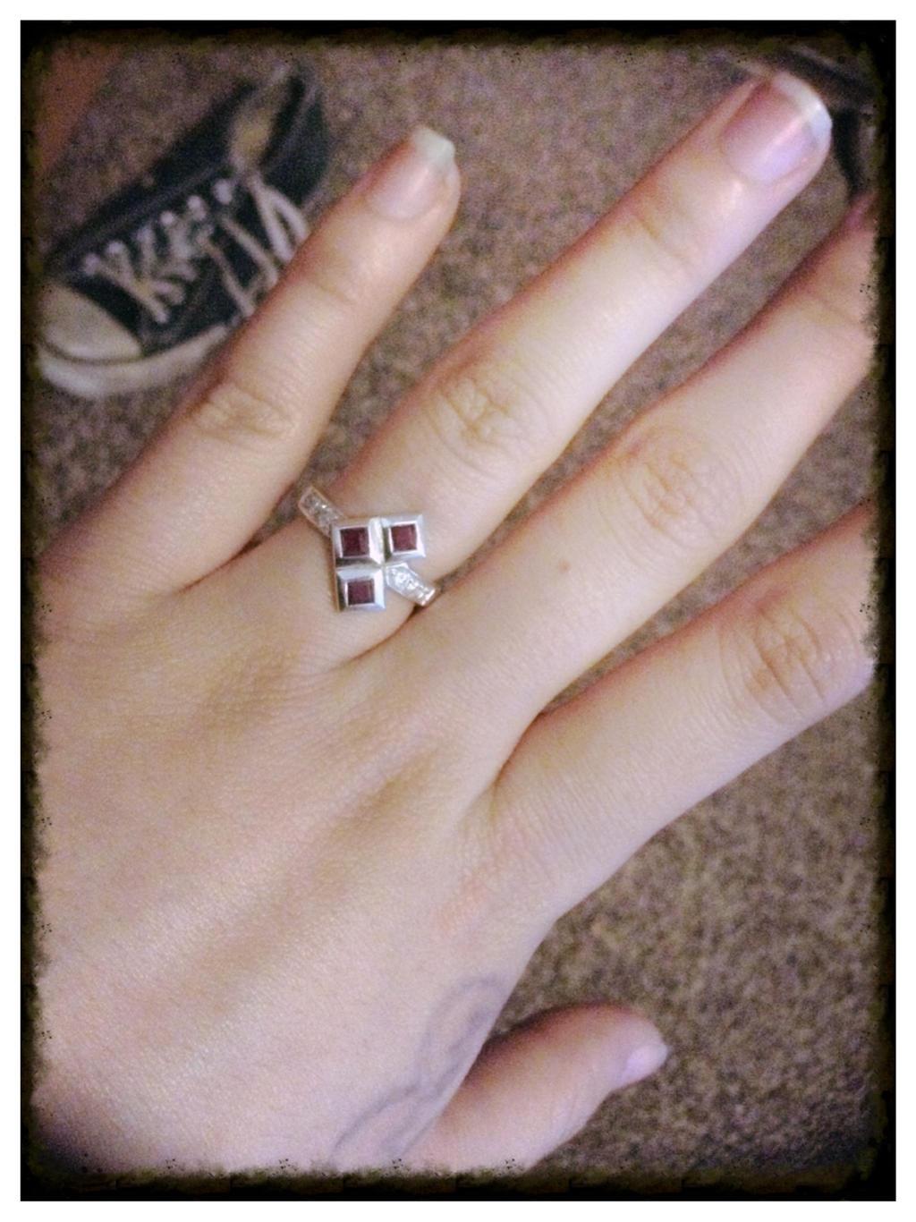Harley Quinn I Love My Puddin Ring