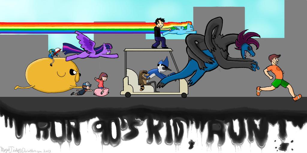 Run 90's Kid,Run! by MaysJedi