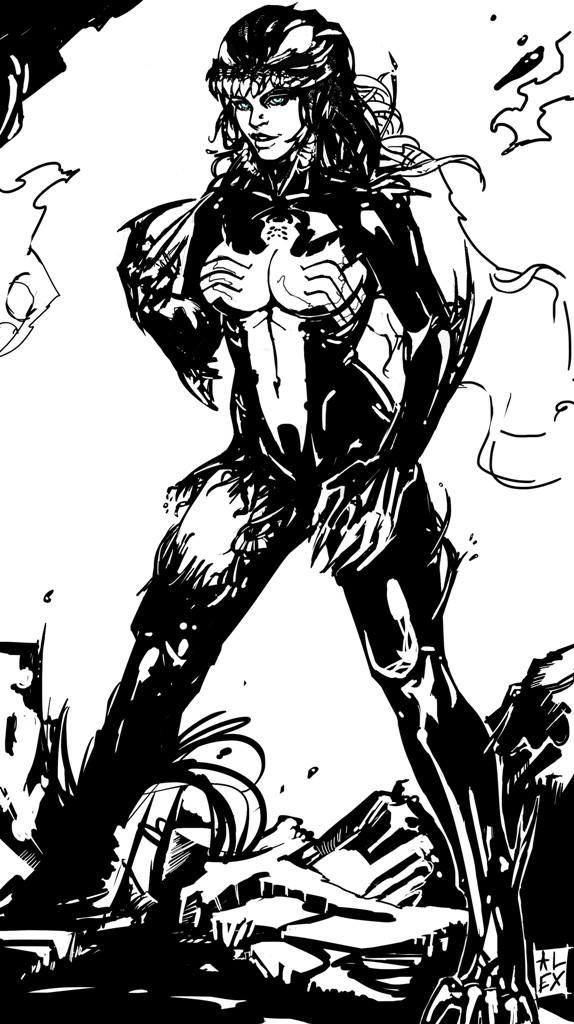 Doodle....... she-venom by Svenechoff