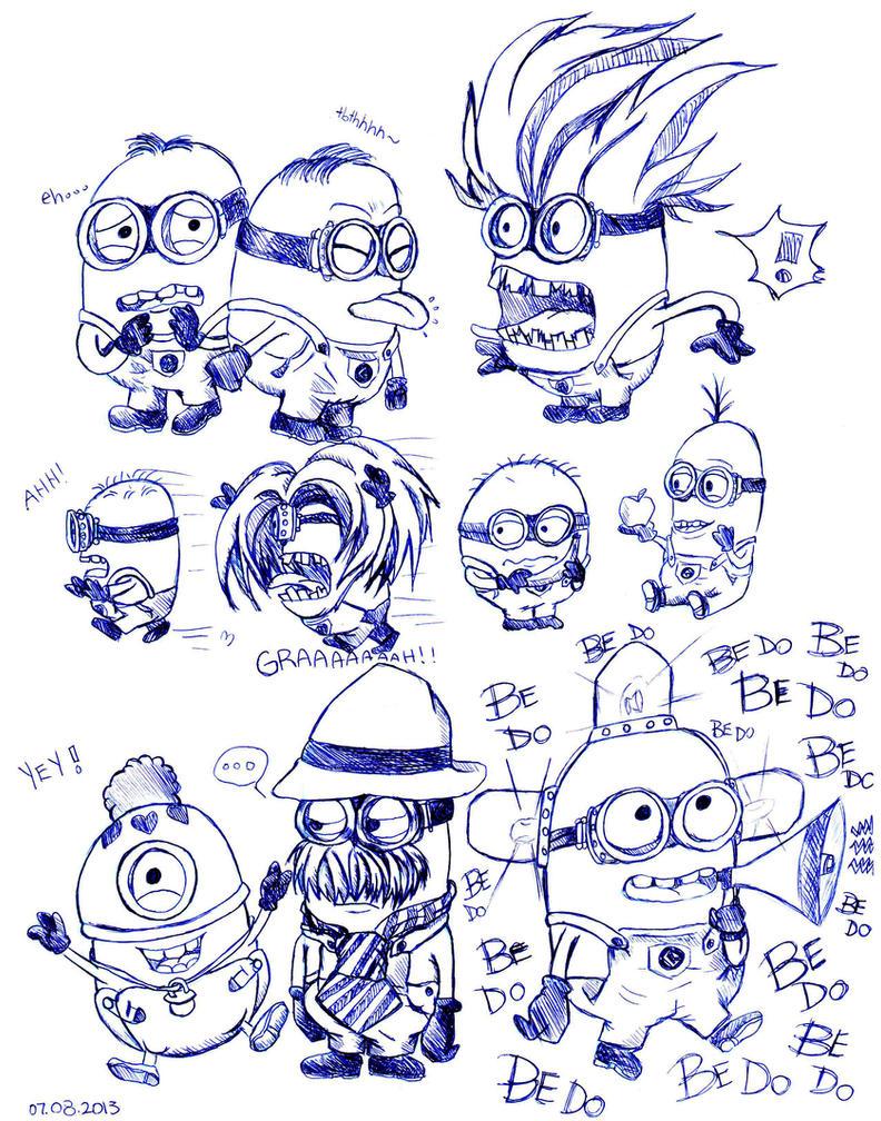 Despicable me minions doodle by reika1016 on DeviantArt