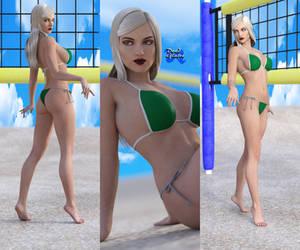 Gwen bikini beach