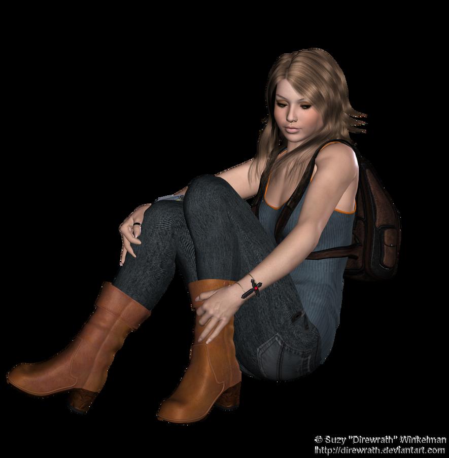 Resting Girl Stock png by Direwrath on DeviantArt