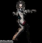 Cyborg Female png Stock 2