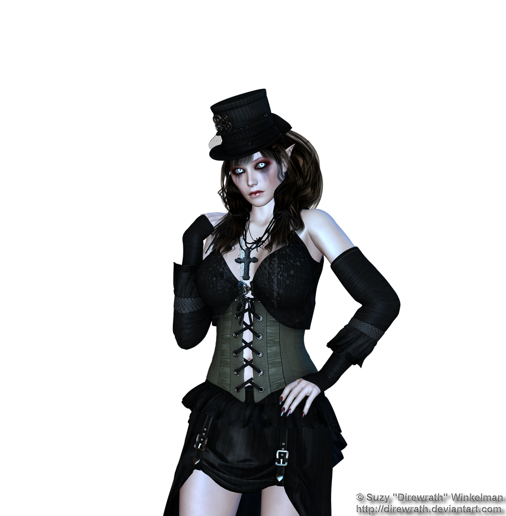 Steampunk Vamp Png Stock 1