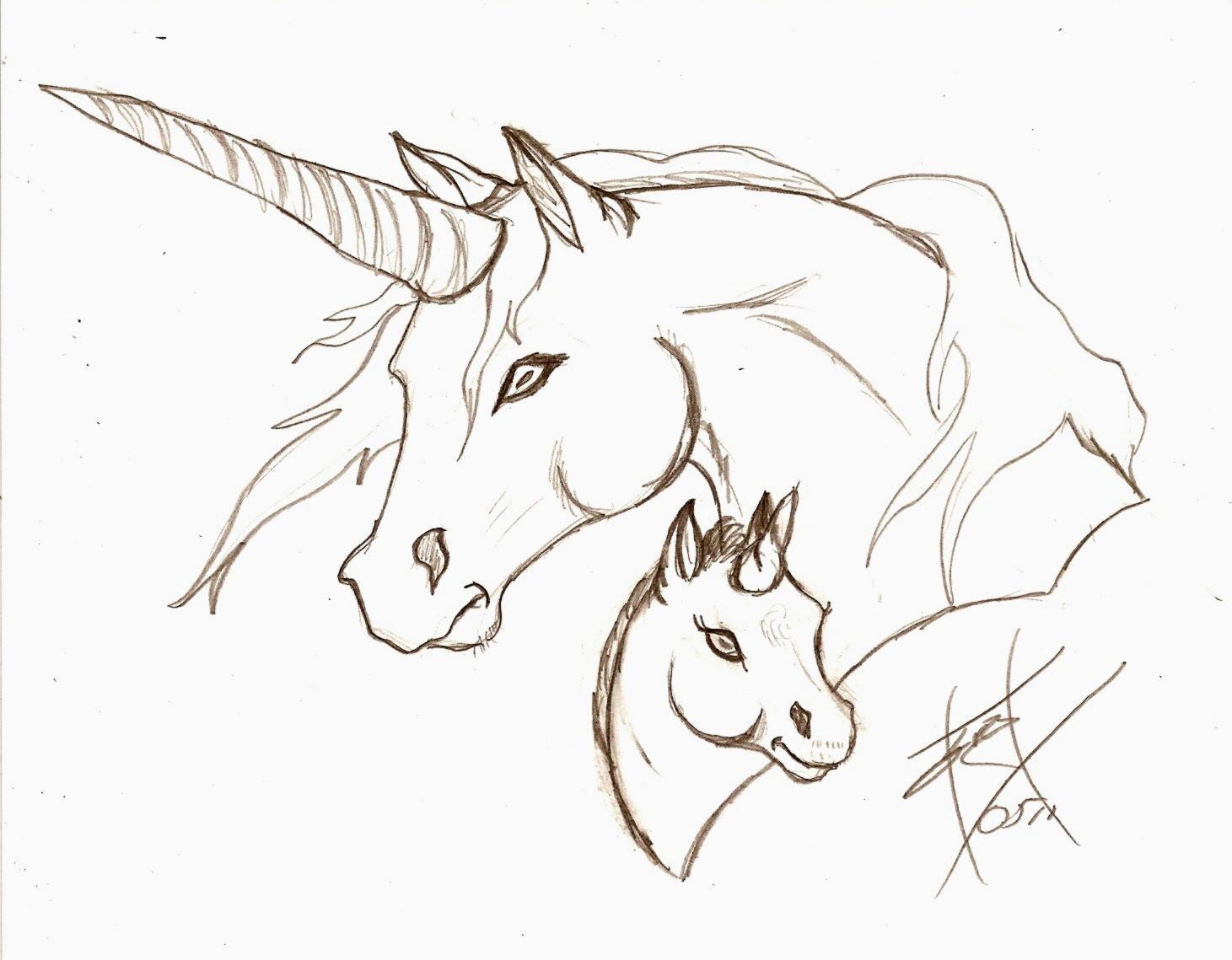 unicorn head how to draw