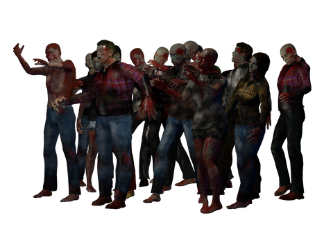 Group of Zombies 1