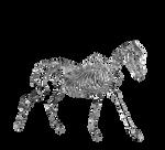Skeletal Horse Crystal Ice