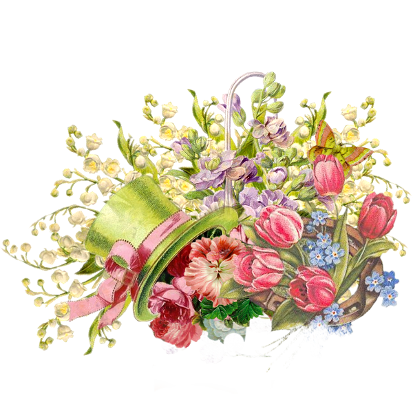 Vintage Flowers Mixed PNG By MegaBleachy