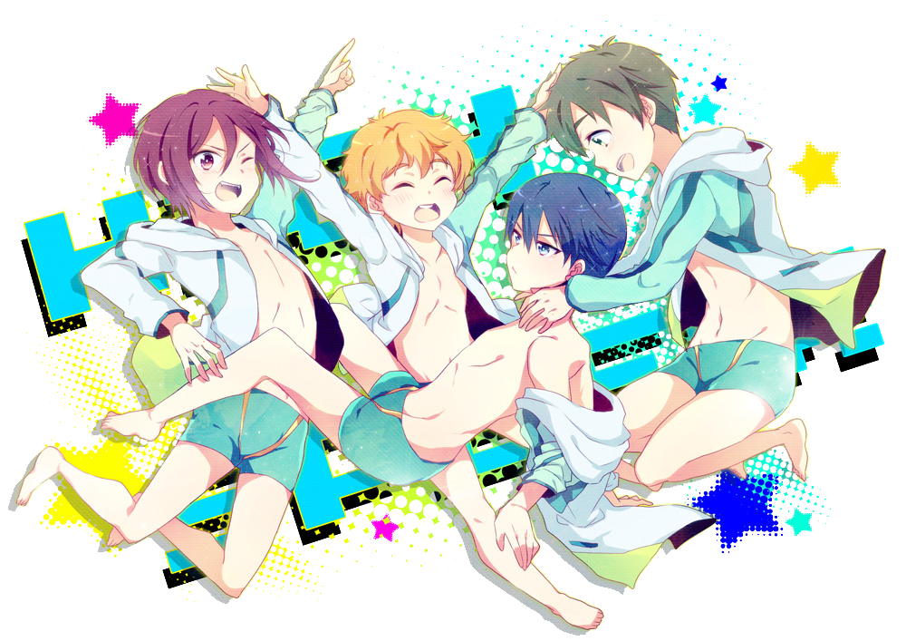 Free! Iwatobi Swim Club 'We Won!' Render by MegaBleachy