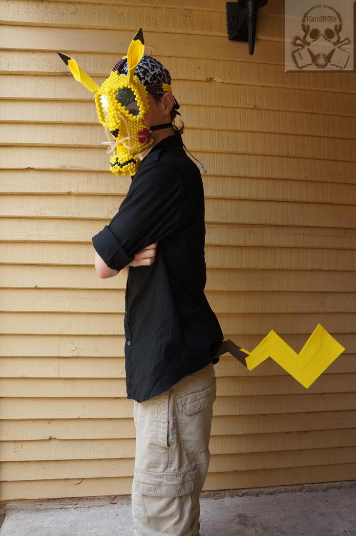 Pika Kandi Gas Mask And Tail By Halodiablo