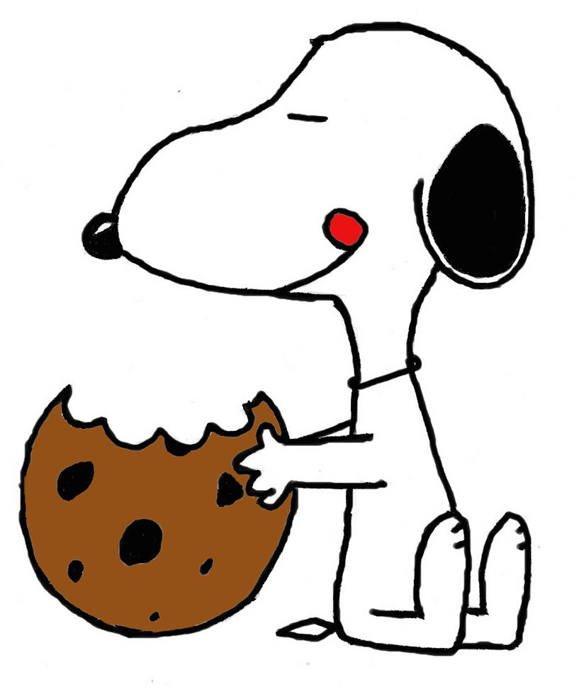 Cookies peanut snoopy mes p 39 tits biscuits gourmands et - Snoopy dessin ...