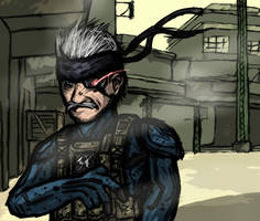 MGS4: Old Snaketch by luckettx