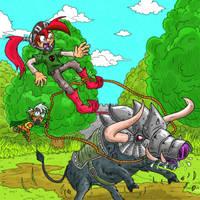 Corey vs War Boar by luckettx