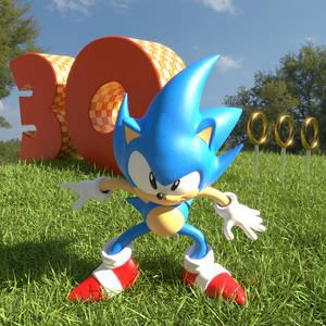 Sonic 30th Figurine Render (Junio Style)