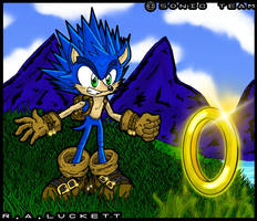 Redesign of Sonic The Hedgehog by luckettx