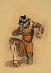 Happy Werewolf Lady by hamstertoybox