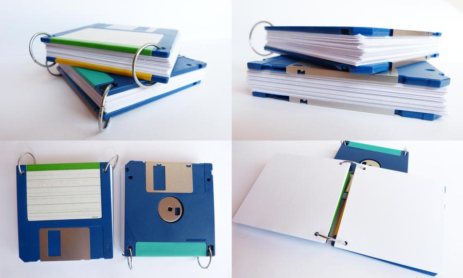 Floppy Disk Notebook by ajnataya