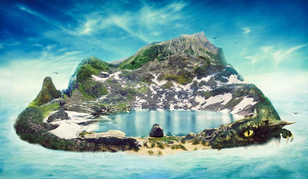 Dragon Island by ajnataya