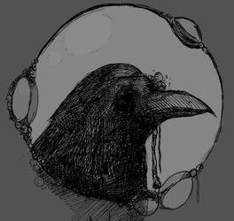 Crow (Gray) by NecroseEvangelicum