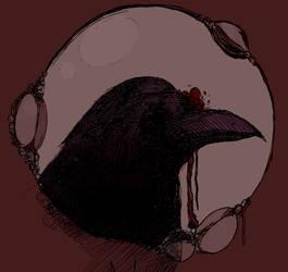 Crow (Crimson) by NecroseEvangelicum