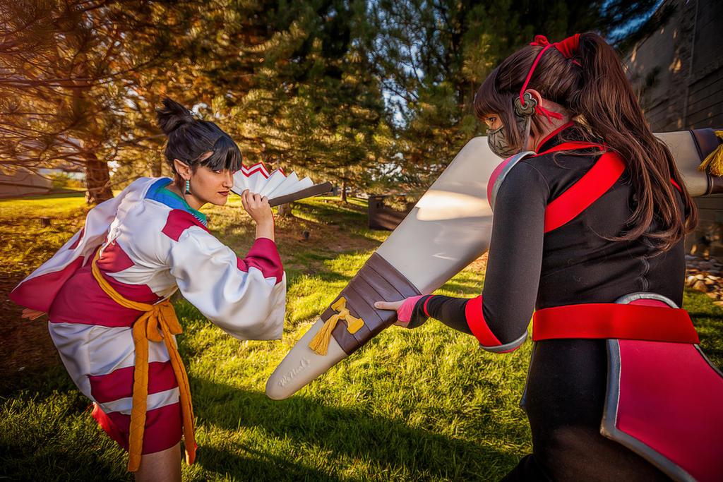 Kagura vs. Sango - InuYasha by St3phBot