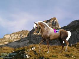 Butterfly and horse by struckrevenge
