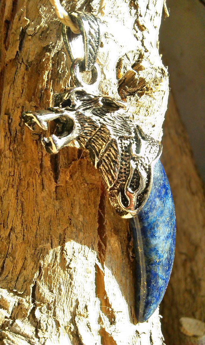Lapis lazuli wolf by Morgenstern-Elfe