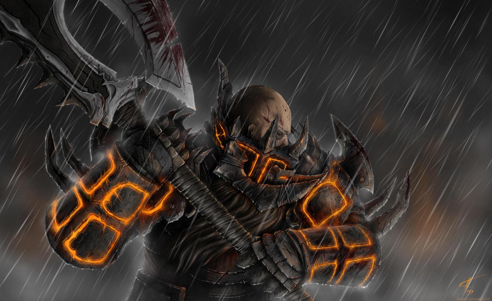 Dwarf Warrior - rain by Nazgul91