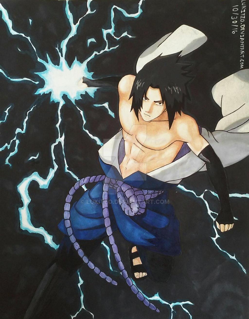 Sasuke's Lightning Blade by Lukitzo on DeviantArt