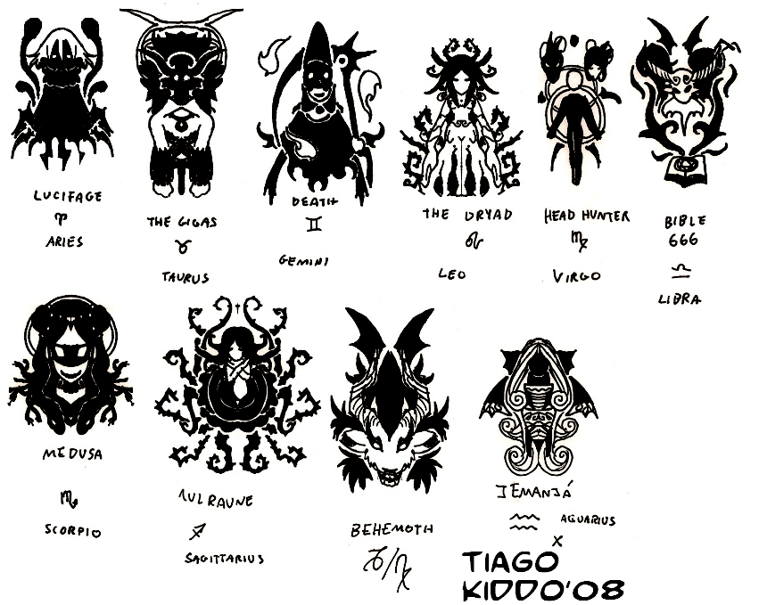 Zodiac Bosses Symbols By Ckt On Deviantart