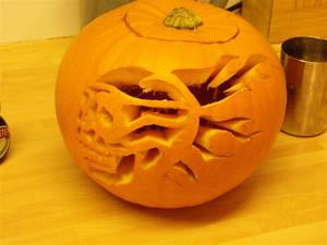 Pumpkin...flaming skull