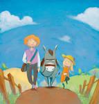Mum Meg donkey cover