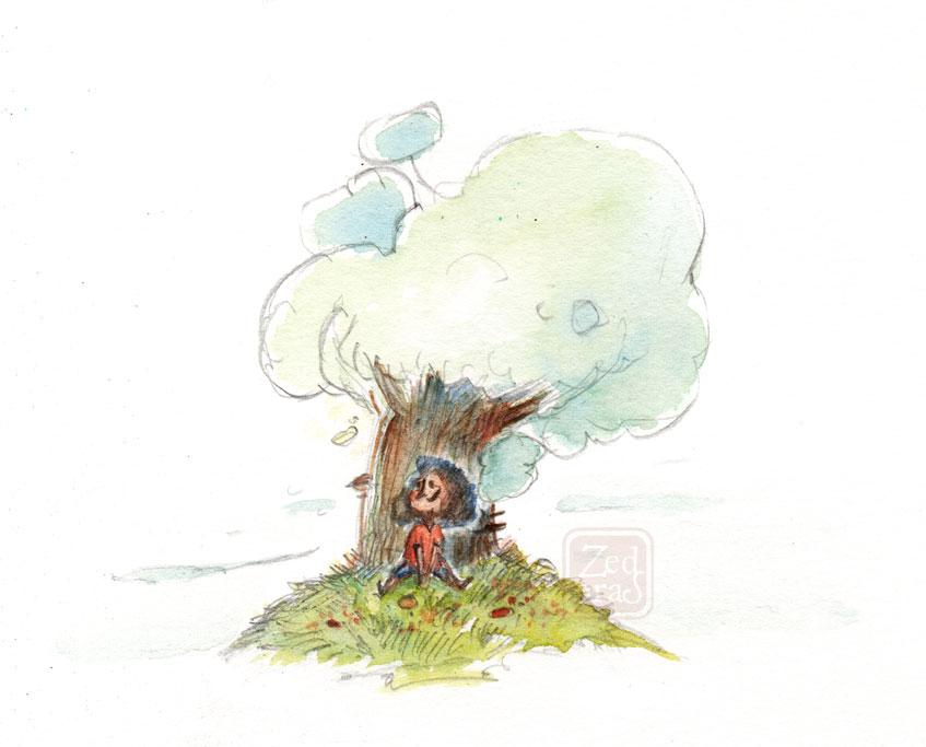 Me and my friend Tree by Z-Oras