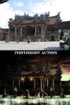Chinese temple before and after