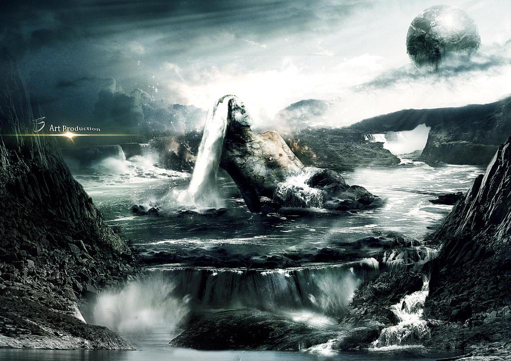 Waterfalls for the beauty by kueijin