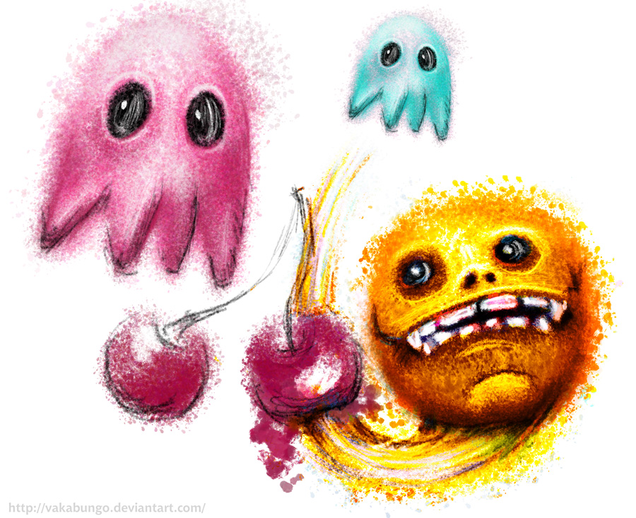 Pac-Man, Pinky and Inky by Vakabungo