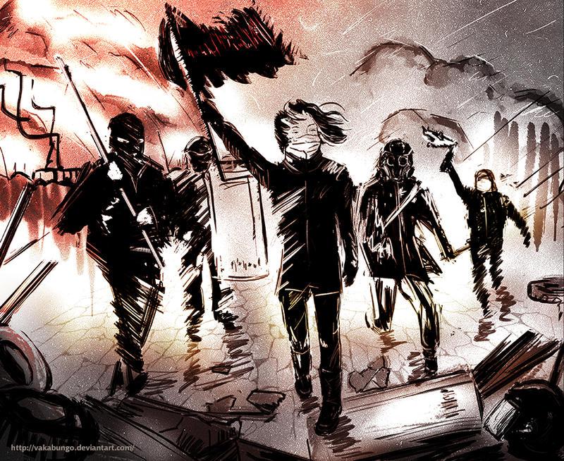 Warriors barricades by Vakabungo